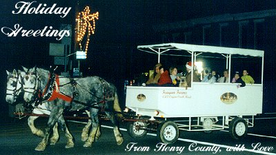Christmas Carriage Ride in New Castle
